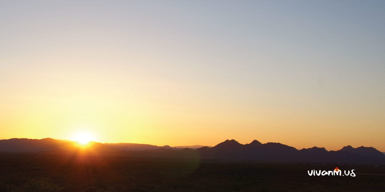 Sunset from the Rabbit Ears in the Organ Mountains